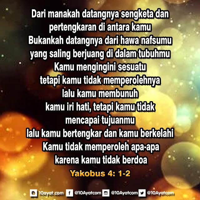 Yakobus 4: 1-2