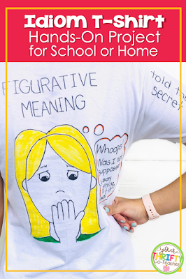 Engage your child or upper elementary students with this fun idiom activity. This idiom shirt project is great as a classroom activity or a home project.