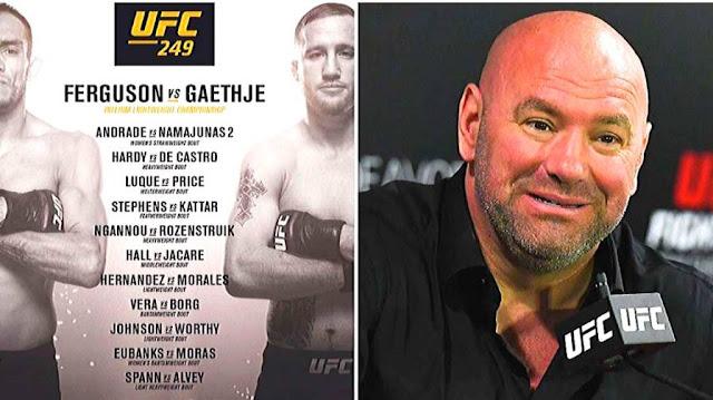 UFC 249 Card