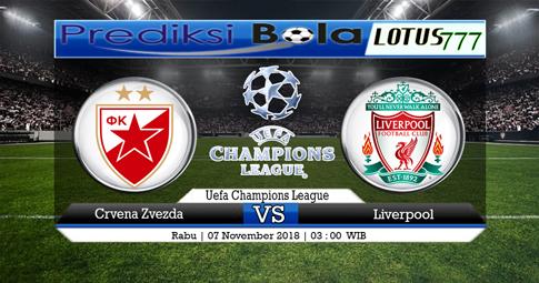 PREDIKSI Crvena Zvezda vs Liverpool 07 NOVEMBER 2018