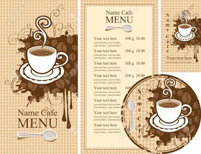 menu quán cafe đẹp
