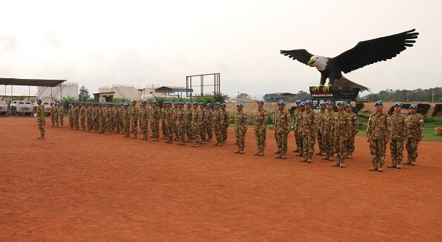 11 Prajurit TNI Konga Naik Pangkat di Republik Afrika Tengah