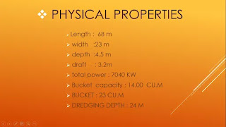 physical properties of dredging equipment