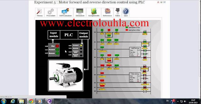 المحركات الكهربائية وكيفية ربطها باجهزة PLC