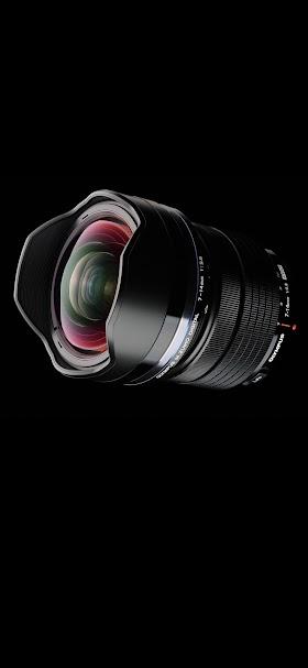 خلفية عدسة كاميرا تصوير فوتوغرافي olympus سوداء