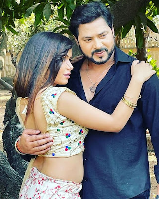 Pooja Maurya shooting pics