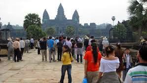 Les nombre des visiteurs aux Temple d'Angkor Wat