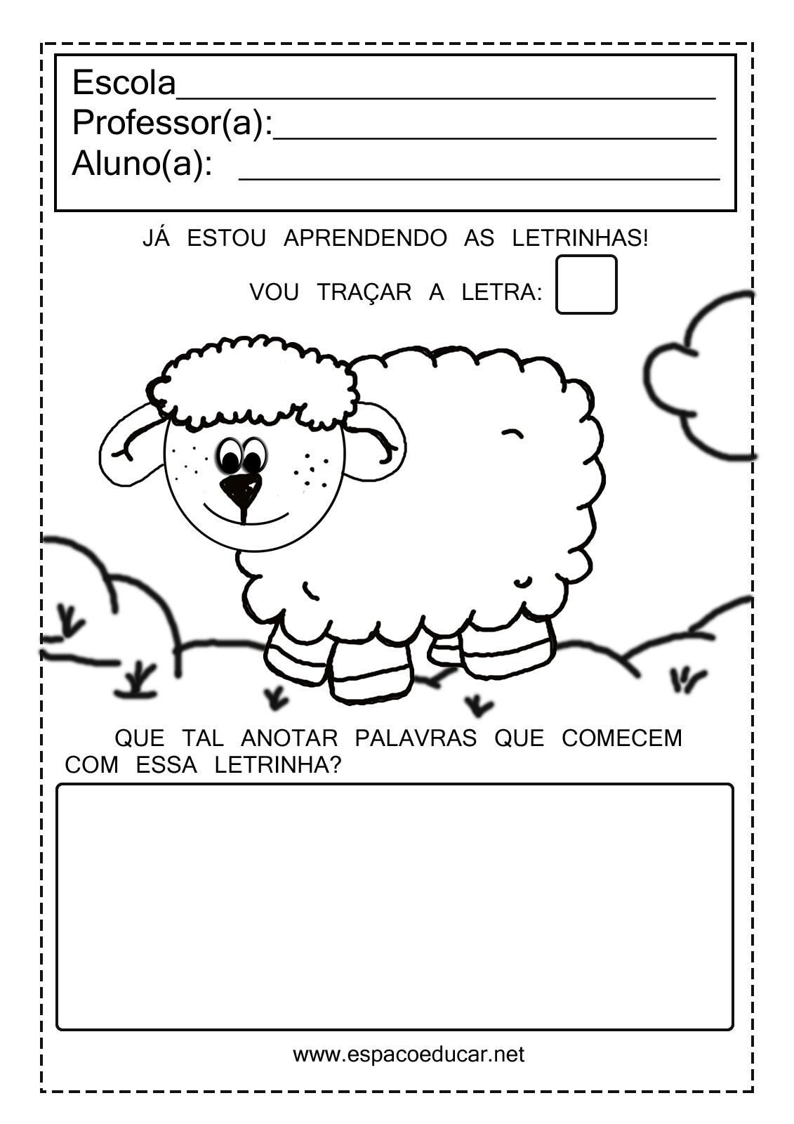 Fabuloso ESPAÇO EDUCAR: Atividades com vogais para imprimir! NV11