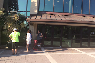 Three People Line Up To See Tim Kaine in Florida (Photos)