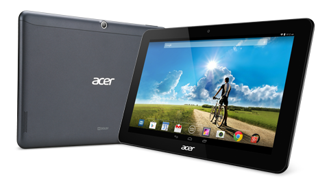 Acer Iconia Tab A3-A20FHD Specifications - LAUNCH Announced 2014, October  This is not a GSM device, it will not work on any GSM network worldwide DISPLAY Type LED-backlit IPS LCD capacitive touchscreen, 16M colors Size 10.1 inches (~67.8% screen-to-body ratio) Resolution 1920 x 1200 pixels (~224 ppi pixel density) Multitouch Yes Protection Corning Gorilla Glass 4, oleophobic coating BODY Dimensions 256.5 x 170.2 x 10.2 mm (10.10 x 6.70 x 0.40 in) Weight 508 g (1.12 lb) SIM No PLATFORM OS Android OS, v4.4 (KitKat) CPU Quad-core 1.5 GHz Cortex-A7 Chipset Mediatek MT8127 GPU Mali-450MP4 MEMORY Card slot microSD, up to 256 GB (dedicated slot) Internal 32 GB, 2 GB RAM CAMERA Primary 5 MP, autofocus Secondary 2 MP Features Geo-tagging Video 720p NETWORK Technology No cellular connectivity 2G bands N/A GPRS No EDGE No COMMS WLAN Wi-Fi 802.11 b/g/n, hotspot GPS A-GPS only USB microUSB v2.0 Radio No Bluetooth v4.0 FEATURES Sensors Accelerometer Messaging Email, Push Email, IM Browser HTML5 Java No SOUND Alert types Vibration; MP3, WAV ringtones Loudspeaker Yes, with stereo speakers 3.5mm jack Yes  - Dolby Digital Plus BATTERY  Non-removable Li-Po 5700 mAh battery (A3-A20FHD-K0CQ) Stand-by  Talk time Up to 8 h (multimedia) Music play  MISC Colors Black, White  - MP3/WAV/eAAC+/Flac player - MP4/H.264 player - Document viewer - Photo/video editor