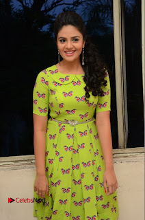 Actress Sri Mukhi Latest Pictures in Green Dress at Mental Movie Audio Launch  0058
