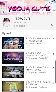 Chanel Youtube YEOJA CUTE