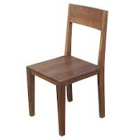 Image of a dining chair used for exercise