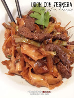 Udon con ternera y salsa Hoisin