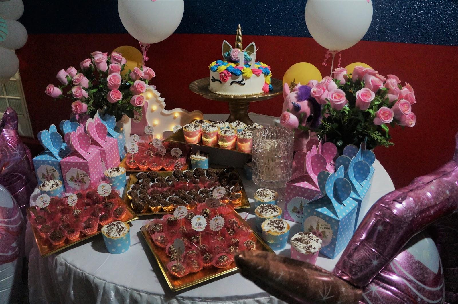 Festa de Aniversário 11 anos com tema Unicórneo