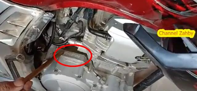 Letak Nomor Rangka dan Nomor Mesin Yamaha Scorpio