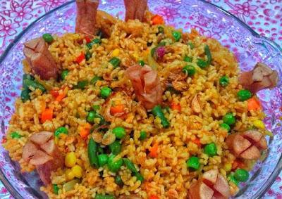 Resep Cara Membuat nasi Goreng sosis sayuran Mantap