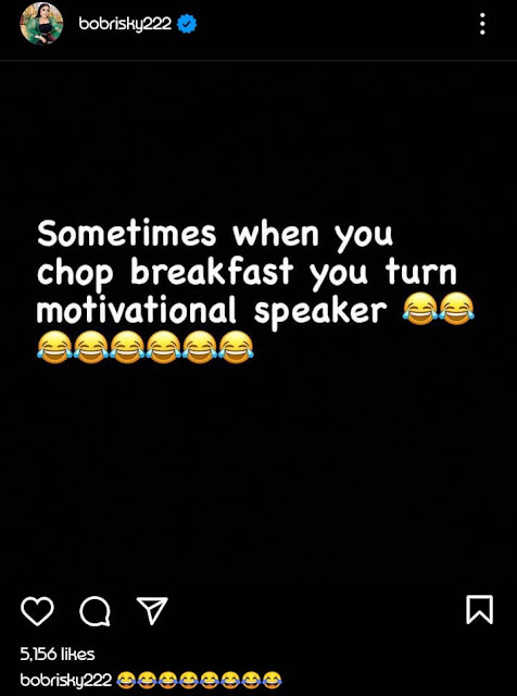 It's time you read those quotes to yourself- Bobrisky throws  a shade at Tonto Dikeh shortly after she posted a quote