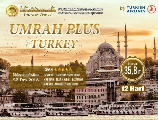 biaya umroh plus turki 2018