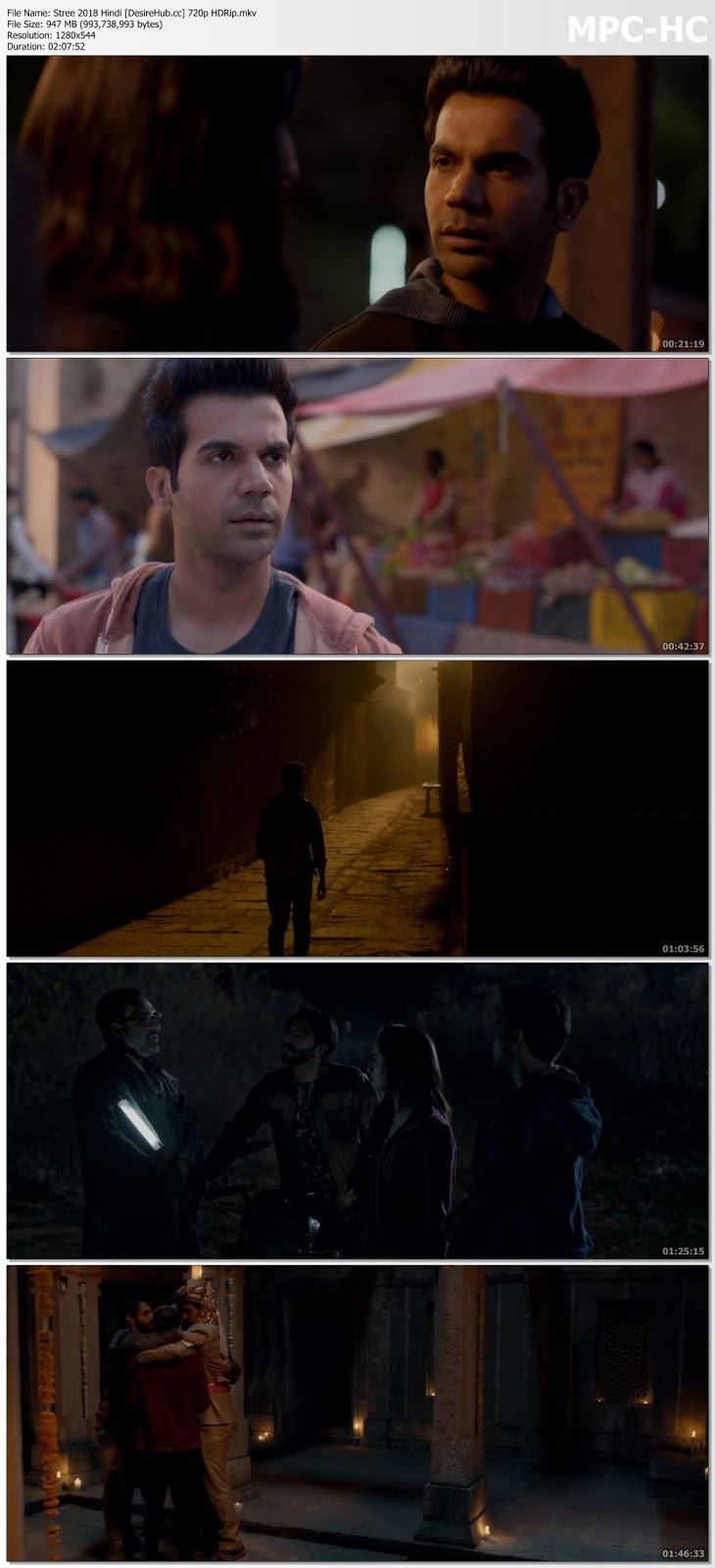 Stree 2018 Hindi 720p HDRip 950MB Desirehub