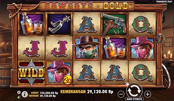 Main Gratis Slot Indonesia - Cowboys Gold (Pragmatic Play)