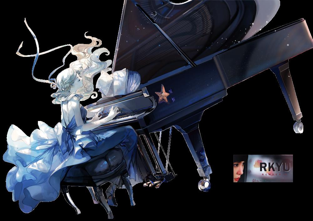 Render anime piano by rkyu