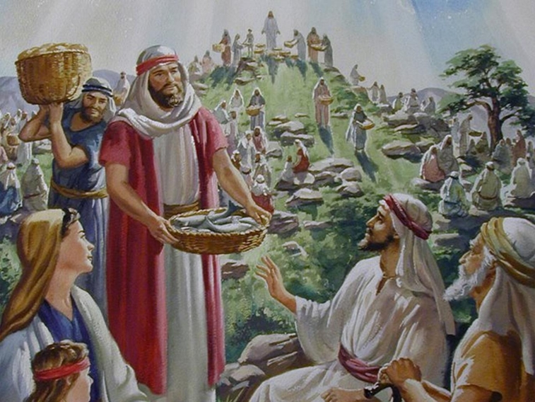 Biblical Jesus' miracle of feeding the multitude was His compassion
