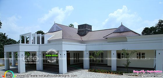 2932 square feet sloping roof Finished home