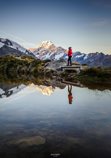 Aoraki, Mt Cook, New Zealand, NZ, Sealy Tarns, Sunset