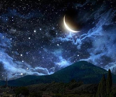 lukisan pemandangan malamku