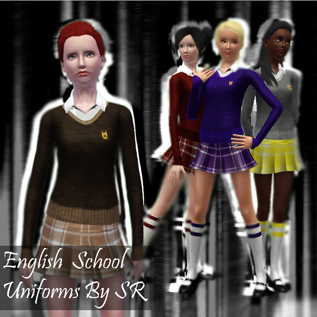 English School Uniforms CC — The Sims Forums