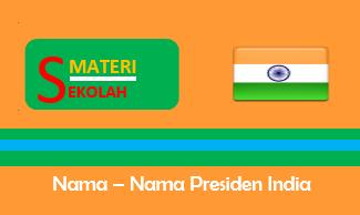 Daftar Nama Presiden India dari masa ke masa