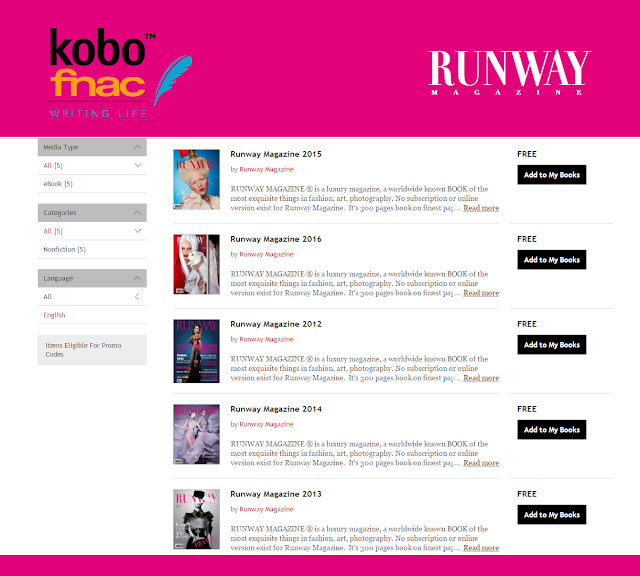 Runway Magazine at Kobo by Fnac