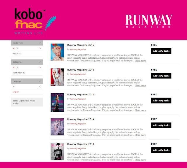 Runway Magazine at Kobo by Fnac