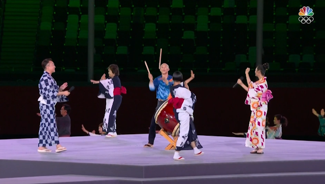 Tokyo 2021 Olympic Games Closing Ceremony traditional Japanese singing dancing culture