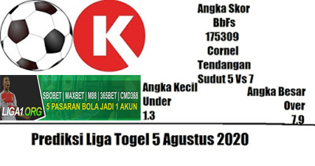 Prediksi Liga Togel HK Rabu 05 Agustus 2020