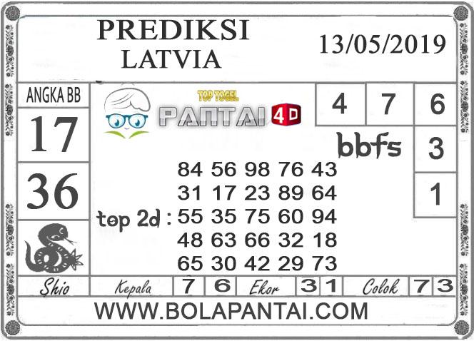 """Prediksi Togel """"LATVIA"""" PANTAI4D 13 MEI 2019"""