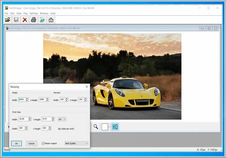 FreeVimager : Δωρεάν πρόγραμμα προβολής εικόνων και επεξεργασίας για τα Windows