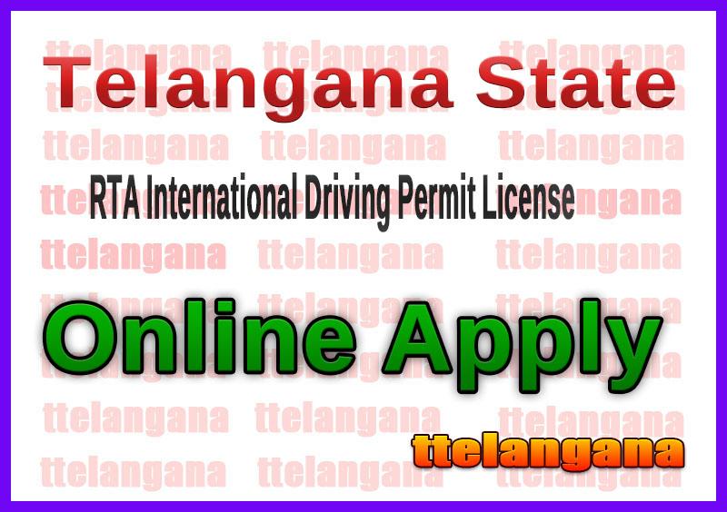 Telangana TS RTA International Driving Permit License Online Apply