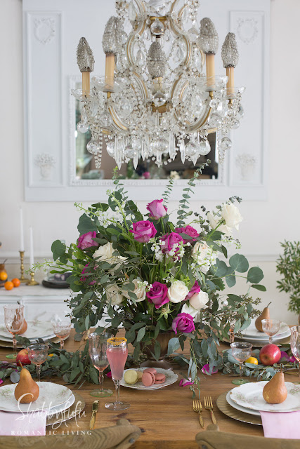 french country decorating rustic elegant table