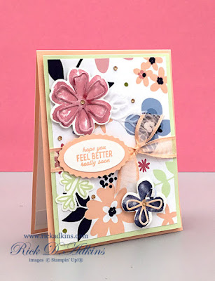 Pretty Perennials Bundle, along with the Punch Party Sale-A-Bration Host Stamp Set and Paper Blooms Designer Series Paper are the perfect match to Say Hello To in the January 2021 OSAT Blog Hop