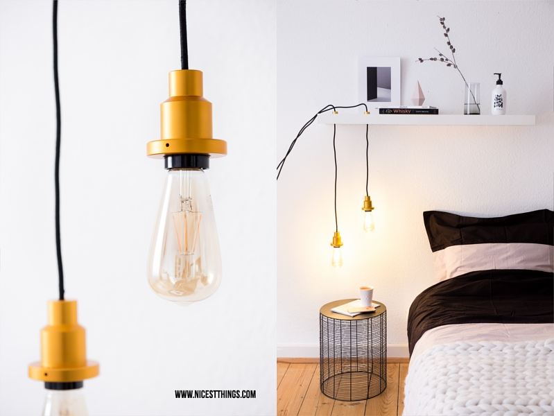 diy lampe selber machen h ngelampe mit vintage gl hbirne nicest things bloglovin. Black Bedroom Furniture Sets. Home Design Ideas