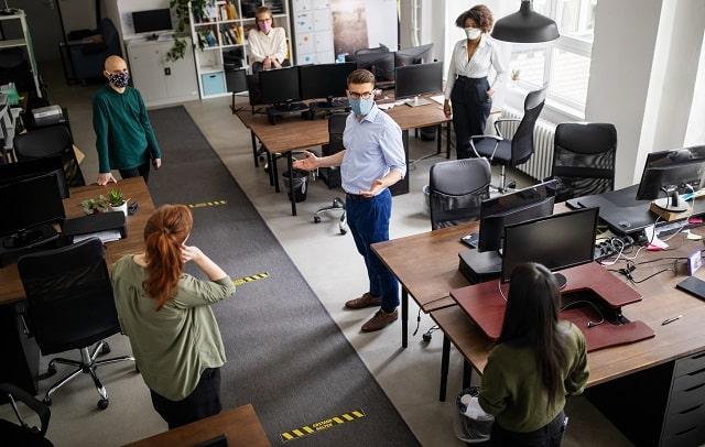 ways coronavirus pandemic changed office work