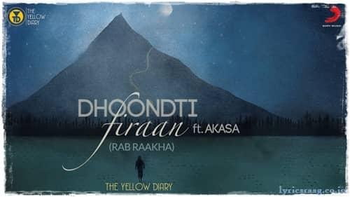 dhoondti firaan lyrics the yellow diary