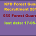 KFD Forest Guard Recruitment 2016 Apply for 555 Forest Guard Posts