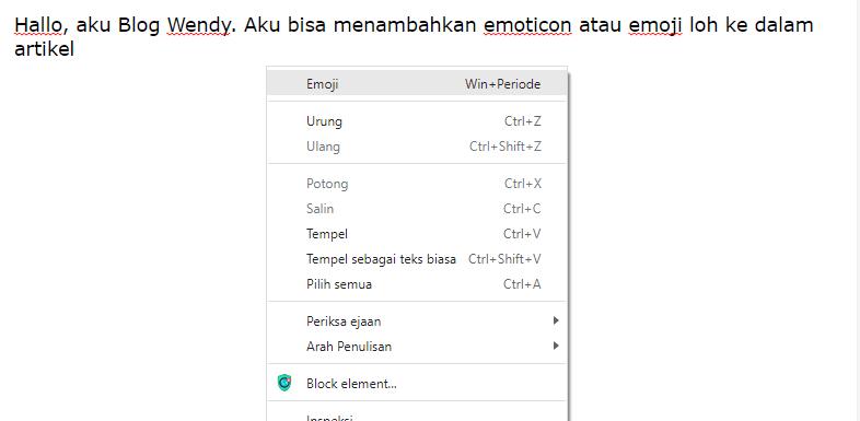 Cara Menambahkan Emoticon atau Emoji di Postingan Blogger