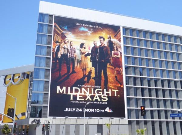 Giant Midnight Texas series premiere billboard