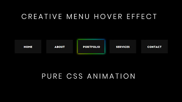 Creative CSS Menu Hover Effect | CSS Menu Hover Effects