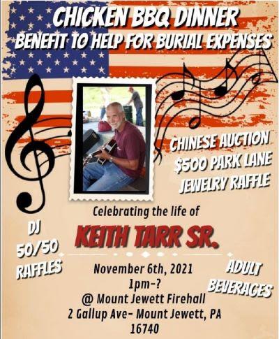 11-6 Keith Tarr Sr. Benefit, Mt. Jewett Firehall