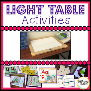 Light Table Activities for the classroom